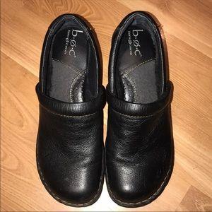 Boc by BORN  black leather clogs size 8.5 W